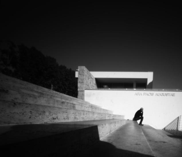 Ara Pacis, pinhole photograph