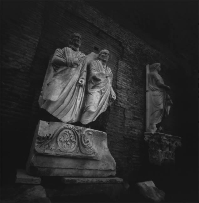 Terme di Diocleziano, pinhole photograph