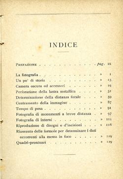 La fotografia senza obiettivo, index