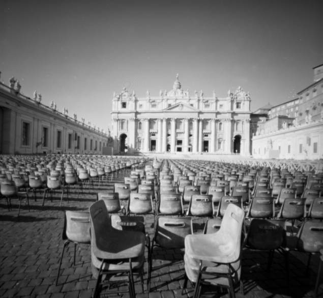 San Pietro, pinhole photograph