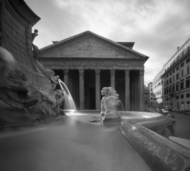Pantheon, pinhole photograph